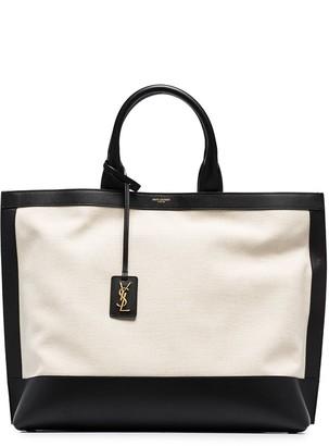 Saint Laurent Cabas two-tone tote bag