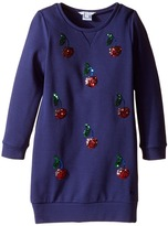 Little Marc Jacobs Milano Ceremony Dress with Sequined Cherry Patterns Girl's Dress
