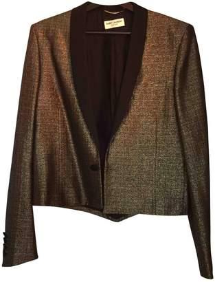 Saint Laurent \N Gold Tweed Jackets