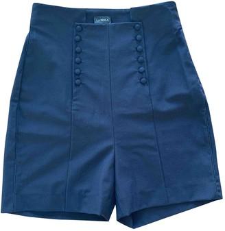 La Perla Navy Wool Shorts for Women