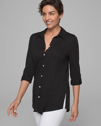 Soma Intimates Cotton Slub 3/4 Sleeve Tunic