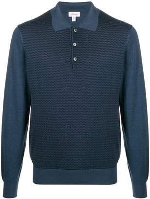 Brioni geometric pattern knit top