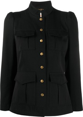 Tory Burch Stand Up-Collar Military Jacket