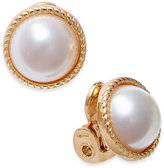 Charter Club Gold-Tone Imitation Pearl Clip-On Stud Earrings, Only at Macy's