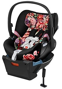 CYBEX Cloud Q Infant Car Seat with SensorSafe in Spring Blossom