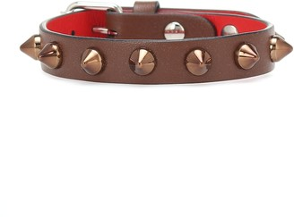 Christian Louboutin Loubilink studded leather bracelet