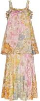 Zimmermann Tiered Strappy Maxi Dress