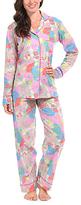 Malabar Bay Pink & Blue Floral Organic Cotton Pajama Set