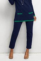 Classic Women's Petite Slim Leg Ponte Pants Navy