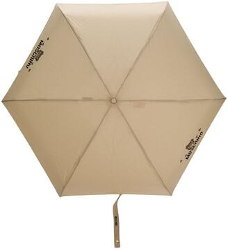 Moschino Teddy logo-print umbrella