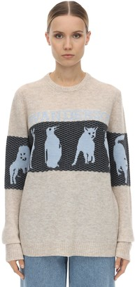 J.W.Anderson Jwa Animal Logo Wool Blend Knit Sweater