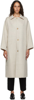 Arch The Beige Silk and Cashmere Coat