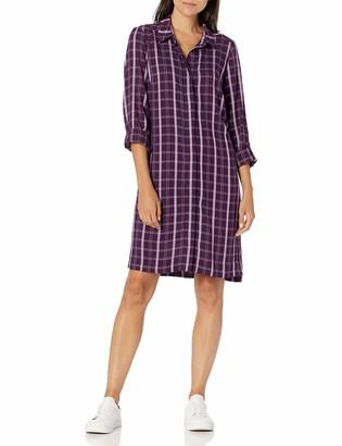 G.H. Bass & Co. Women's Lt. Wt. Textured Plaid Dress