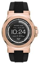Michael Kors Access Dylan Rose Goldtone Stainless Steel & Silicone Strap Smartwatch