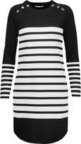 Rebecca Minkoff Scottie striped stretch-knit mini dress