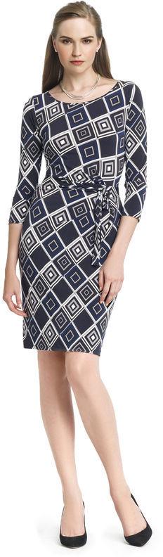 Anne Klein Diamond Print Wrap Dress