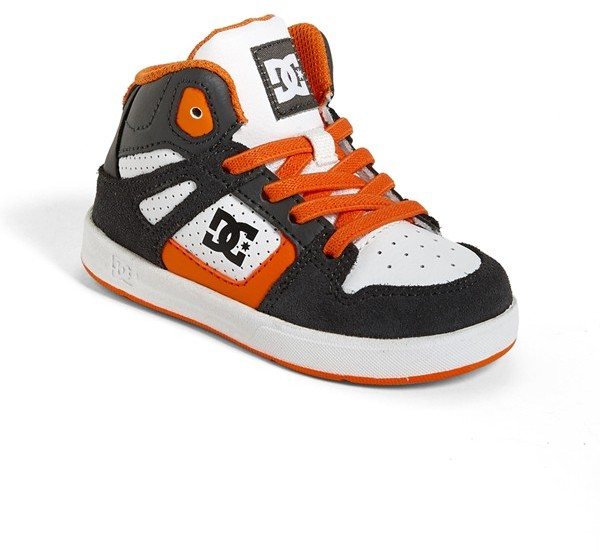 DC 'Rebound' Skate Shoe (Walker & Toddler)