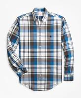 Brooks Brothers Madison Fit Bold Plaid Zephyr Sport Shirt