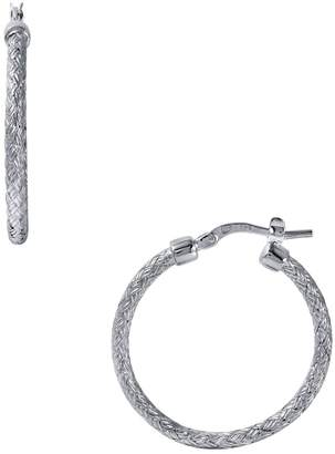 Charles Garnier Paris Jody 25 Woven Wire Small Hoop Earrings