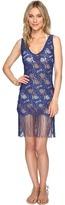 Luli Fama Wanted and Wild Flirty Fringe Dress Cover-Up Women's Dress