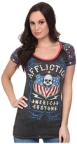 Affliction Whiskey Sour Short Sleeve Raglan Tee