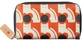 Orla Kiely Poppy Cat Print Big Zip Wallet