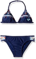 Roxy Big Girls' Little Pretty Tri Set Two Piece Swimsuit