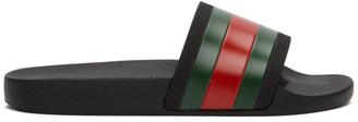 Gucci Black Pursuit Slides
