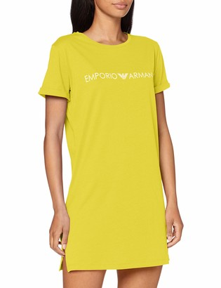 Emporio Armani Women's Maxi T-Shirt Logo Lover Cover-Up
