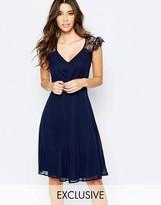 Elise Ryan Lace Midi Prom Dress