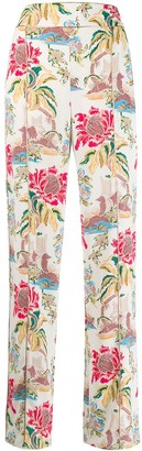 Peter Pilotto floral print trousers