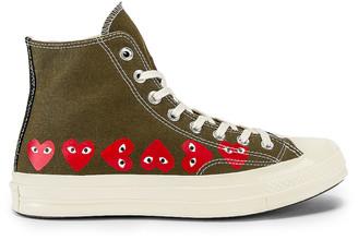 Comme des Garcons Emblem Hi Top Sneaker in Khaki | FWRD