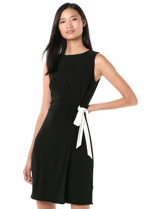 Chaps Women's Tie Front Matte Jersey Dress