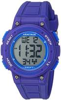 Armitron Sport Women's 45/7086PUR Blue Accented Digital Chronograph Purple Resin Strap Watch