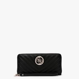 GUESS Blakely Zip Around Black Wristlet Wallet