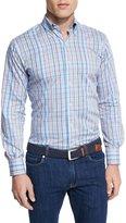 Peter Millar Crown Pin-Plaid Long-Sleeve Sport Shirt