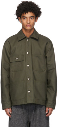 Naked and Famous Denim Khaki Canvas Chore Coat