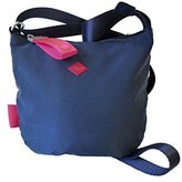 Oilily Groovy Shoulderbag Svz, Women's Cross-Body Bag, Blau (Dark Blue), 1x21x23 cm (B x H T)