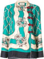 Gucci oriental print blouse
