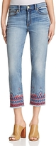 Tory Burch Myers Cropped Bootcut Jeans