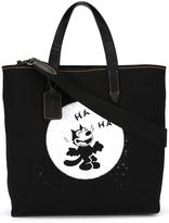 Coach 'Felix Laughing' tote - women - Cotton - One Size
