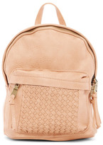 Urban Expressions Woven Faux Leather Backpack
