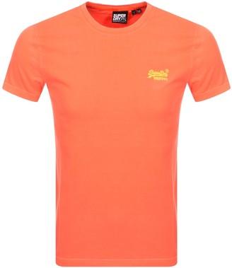 Superdry Short Sleeved T Shirt Orange