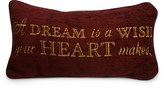 Disney Cinderella Pillow - ''A Dream is a Wish Your Heart Makes''
