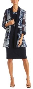 R & M Richards Floral-Print Jacket & Necklace Dress