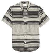 Billy Reid Murphy Stripe Short Sleeve Sport Shirt