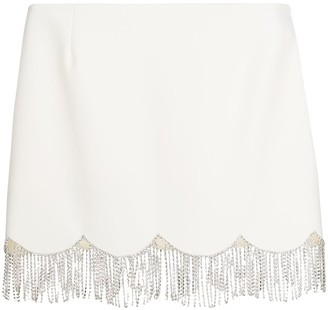 Area Embellished Scalloped Mini Skirt