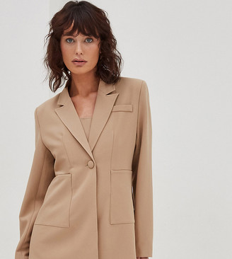 4th & Reckless Petite blazer in camel