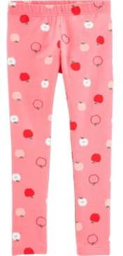 Carter's Little Girls Apple Leggings