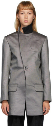 Situationist SSENSE Exclusive Grey Wool Asymmetric Blazer